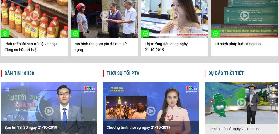 Thiết kế website Đài phát thanh và truyền hình