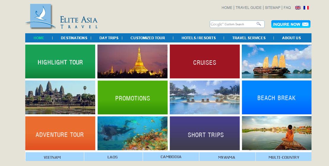 Thiết kế website đặt khách sạn, du lịch